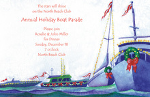 Nautical Decorated Yachts Holiday Waves Invitation