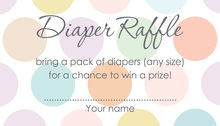 Pastel Multicolored Polka Dots Raffle Cards