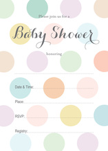 Pastel Multicolored Polka Dots Fill-in Invites