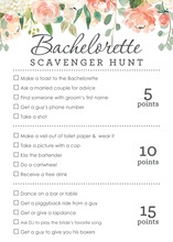 Watercolor Peach Cream Floral Scavenger Hunt