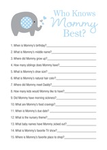 Blue Chevron Elephant Who Knows Mommy Best Game