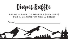 Mountain Adventure Diaper Raffle Cards