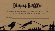Kraft Mountain Adventure Diaper Raffle Cards
