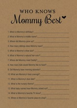 Kraft Black Script Who Knows Mommy Best Game
