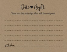 Kraft Black Script Date Night Idea Cards