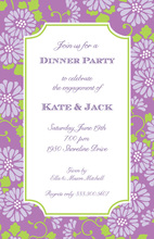Purple Morning Climbers Invitation