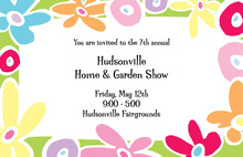 Bright Flower Garden Invitation