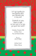 Popular Holiday Paisley Invitations