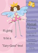 Sleepy Fairy Embellished Print Invitations