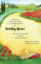Emerald City Yellow Brick Road Invitations