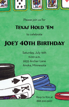 Texas HoldEm Poker Gaming Invitations
