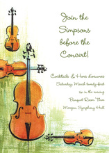 Symphonic Violin Strings Invitation