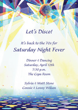 Disco Ball Spot Lights Invitation