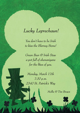 Jolly Green Lucky Leprechaun Invitation
