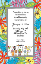 Hawaiian People Tropical Border Invitations
