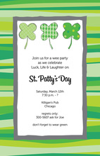 Popular Shamrocks Border Invitation