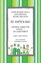 St. Patty Caricature People Invitation