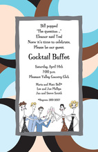 Toasting People Large Dots Invitation