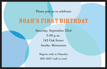 Blue Big Retro Invitations