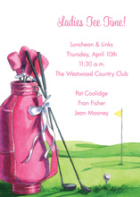 Featuring Pink Ladies Golf Sport Invitations