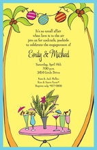 Classy Tropical Cocktails Invitations