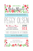 Banners Baby Shower Scene Invitations