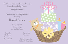 Baby Basket Invitation