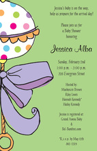 Rattle Madness Baby Shower Invitations