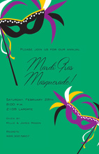 Carnival Masks Party Invitation