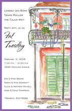 Watercolor New Orleans House Invitations