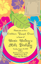 Luau Placesetting Invitations