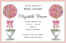 Pink Topiaries Invitations