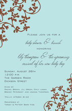 Traditional Classic Blue Vines Invitation