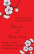 Inspiring Asian Flowers Invitation