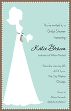 Modern Bride In White Invitation
