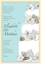 Elegant Shells Tiered Cake Invitations
