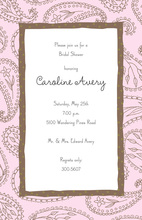 Pink Paisley Invitation