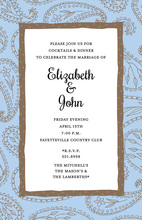 Sky Blue Paisley Invitation