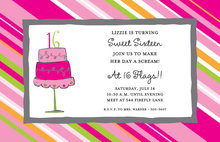 Truly Sweet Sixteen Birthday Invitation