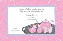 Sweet Tea In Sweet Pink Invitation
