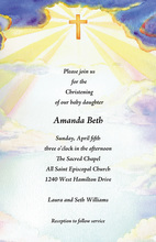 Heavenly Light In The Sky Invitation