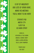 St Patty Invitation