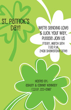 Modern Clovers St Patrick Invitation