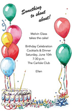 Birthday Celebration Party Favors Invitation
