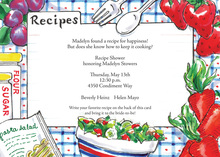 Kitchen Salad Recipe Invitations