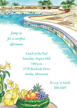 Fruits Assortment In Pool Invitations