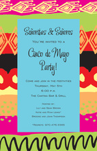 Colorful Trendy Santa Fe Invitations