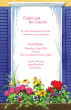 Blue Window Outdoor Spring Invitation