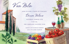 Italian Tuscany View Invitations
