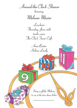 Gifts Clock Shower Invitations